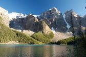 Moraine Lake at dusk — Stock Photo