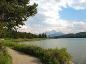 Path along Maigne Lake — Stock Photo
