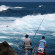 Stock Photo: Fishermen in Puerto de lCruz