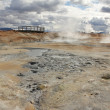 Fumarole fields and tourist platform — Stock Photo