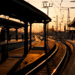 Sunset on Hbf 1 — Stock Photo