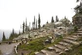 Stone stairs on Mt Revelstoke — Stock Photo