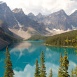 Stock Photo: Moraine Lake from above
