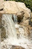 Japanese Garden Cascades closeup 2 LT — Stock Photo