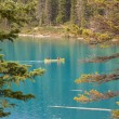 Canoe on Moraine Lake — Stock Photo