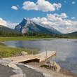 Vermillion Lakes and Dock — Stock Photo