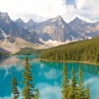 Stock Photo: Beautiful Moraine Lake and Mountains