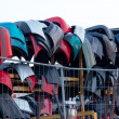 Stock Photo: Used fenders on rack