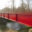 Stock Photo: Red Metal Bridge 1