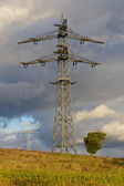 Transmission Tower on a field 2 — Stock Photo