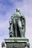 Carl Friedrich statue closeup — Stock Photo