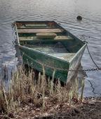 Old boat at shore HDR — Stock Photo
