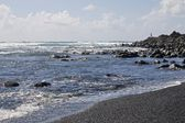 Lanzarote Black Sand Beach 1 — Stock Photo