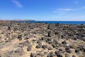Лансароте каменистый пляж 2 — Стоковое фото