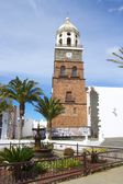 Teguise Church and Square 1 — Stock Photo