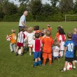 Small children at football training — Stock fotografie