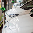Electric cars being recharged — Stock Photo