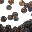 Black liquorice coins — Stock Photo #27101833