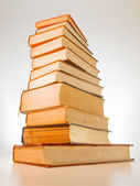堆栈的旧书籍 — 图库照片