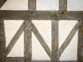 Timber frame wall — Stock Photo
