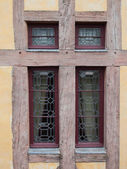 Window timber frame wall — Stock Photo