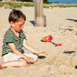 Small boy on beach — Stock Photo #34102275