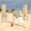 Small boy on a beach — Stock Photo