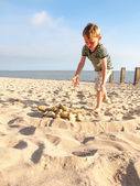 Small boy on a beach — Foto Stock