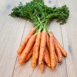 A bunch of Freshly Harvested Carrots — Stock Photo #36810997
