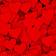 3D red hearts background — Stock Photo