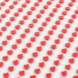 3d red hearts background — Stock Photo #33085419