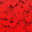 3D red hearts background — Foto Stock