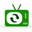 Recycling Television — Stock Photo