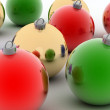 colored christmas balls — Stock Photo