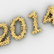2014 year. Golden numbers — ストック写真