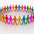 Group of people - hand To head — Foto Stock
