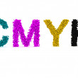 CMYK ink drops — Stockfoto