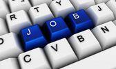 Keyboard - job — Stock Photo