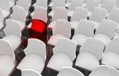 Chairs in a theater or cinema - illustration — Stock Photo