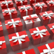 Different red & white gifts — Stock Photo #33982505