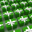 Green gifts — Stock Photo