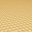 Gold honeycomb — Stock Photo