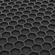 Black honeycomb — Stock Photo