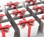 White gift — Stock Photo