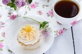 Tart with cream — Fotografia Stock