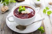 Soupe de betterave rouge — Photo