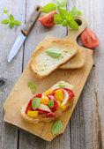 Bruschetta au poivre — Photo