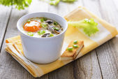 Baked eggs — Stock Photo