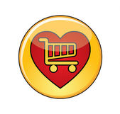 Concepto de compras de amor — Vector de stock