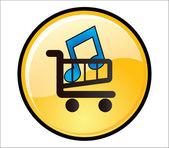 Buy Music Button — Stockvector